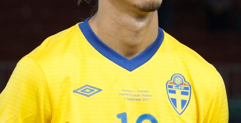 Budapest, Hungary - September 2, 2011: Swedish Zlatan Ibrahimovic before Hungary vs. Sweden (2:1) UEFA Euro 2012 qualifying game at Puskas Stadium on September 2, 2011 in Budapest, Hungary.